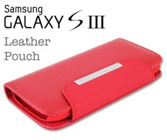 Samsung Galaxy S3 Leather Pouch Red