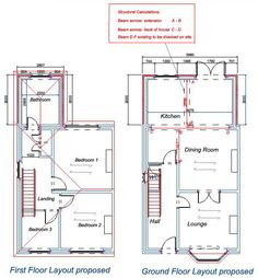 1930s semi detached house rear extension drawings - Google Search ...
