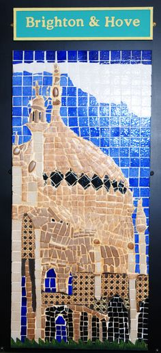 Tiled Brighton mural at the Blind Veterans UK, Brighton centre (featuring The Royal Pavilion). The charity changed their name in 2012 from St. Dunstans