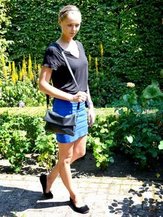 Outfit: black & blue ~ My Simply Special