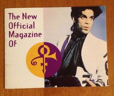 Prince Official Magazine Advertisment Mailing Subscription Card Tri Fold Paisley