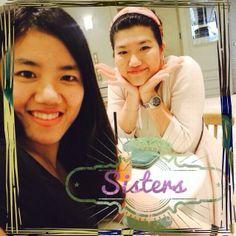 First,let me take a selfie! #sisters #selfie #latetweet