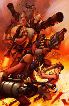 ((open rp, team fortress 2)) *run as quick as can to my room and grab a gun, hear that red team have already break into our blu base*