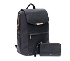 MAI Premium Valletta Leather Laptop Backpack for Women with Wristlet I Executive Laptop and Notebook Computer Backpack I Ideal for Business, Travel, Work I Incl. Commuter Purse – Black >>> Click image for more details. (This is an affiliate link) Best Laptop Backpack, Best Travel Backpack, Leather Laptop Backpack, Laptop Rucksack, Computer Backpack, Backpack Purse, Fashion Backpack, Purse Wallet, Laptop Bags
