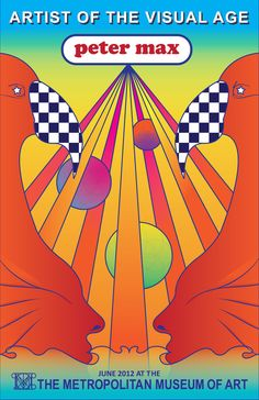 Peter Max was known for his iconic style in the 60s