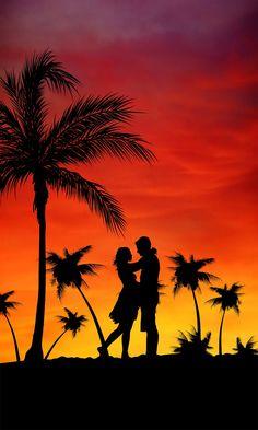 Wallpaper Casais, Love Wallpaper For Mobile, Love Wallpaper Backgrounds, Cute Couple Wallpaper, Plage Couples, Lovers Images, Love Wallpapers Romantic, Hd Love, Couple Painting