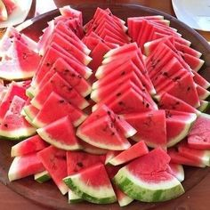 Nothing says summer like a big tray of watermelon slices... just waiting to be picked up and enjoyed!