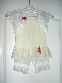 Custom design for customer...Vintage slip, hand made lace bolero and bloomers.  Have something made for you! www.etsy.com/shop/bohoinfashion