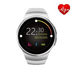 77.76$  Buy now - http://alii2y.worldwells.pw/go.php?t=32663778746 - 2016 Newest Sport Smart Watch KW18 Heart Rate IPS Screen bluetooth smartwatch Fitness Tracker App For IOS Android mp3 Free ship 77.76$