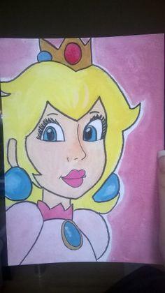 Princess Peach Watercolour  A5 5x 8 by MeganKateArt on Etsy, £4.50