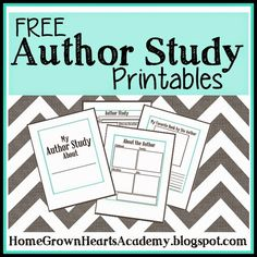 Home Grown Hearts Academy Homeschool Blog: FREE ~ Author Study Printables