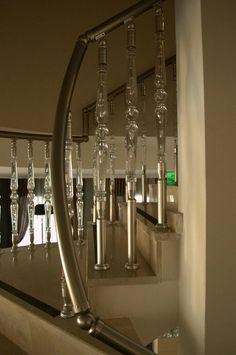 Aluminium plexy glass balustrade-handrail
