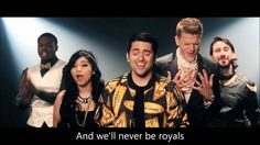 Pentatonix - Royals (HD VIDEO WITH LYRICS)