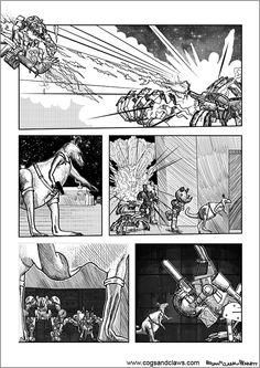 Cs&Cs wordless webcomic page 99. #comicbook #webcomic #comics #manga #anthro #animals #zoids #transformers #mech #mecha #rat #spiders #rhinos #kangaroos #starwars #tmnt #rocketraccoon