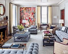 Gray...New York City duplex revamped by Steven Gambrel