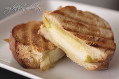 Whiskey Cheddar and Pear Grilled Cheese | my kitchen addiction