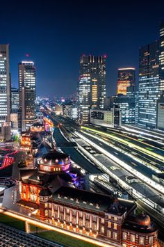 Tokyo Station, Japan 「光の街 Tokyo Station」二宮 保