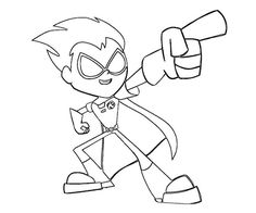teen titans go robin coloring pages  Google Search  Coloring