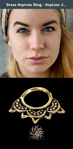 Brass Septum Ring - Septum Jewelry - Septum Piercing - 18G Septum Ring - 16G septum Ring - Tribal Septum - Indian Septum Ring (B28). Brass Septum Ring - 18G Septum Ring - Tribal Septum Ring - Indian Septum Ring - Septum Jewelry - Septum Piercing - Tragus Ring - Septum Clicker - Indian Nose Ring (B28) New and beautifully septum for a pierced nose made of brass. Can be wear as an earing as weil. Available in 18G (1mm) and 16G (1.2mm) Need a different gauge? I can create a custom order for…