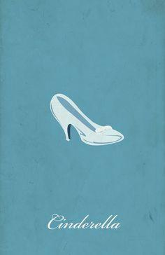 Minimalism poster series - cinderella