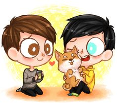 still waiting for that fateful day where dan and phil will finally get a dog  By chocolattea on tumblr