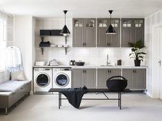 Lyxig drömtvättstuga med mycket funktion – Nytt kök badrum och tvättstuga - Vedum kök och bad AB