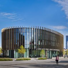 Chicago Public Library, Chinatown Branch; Chicago by Skidmore, Owings & Merrill LLP winner of the 2016 AIA library awards