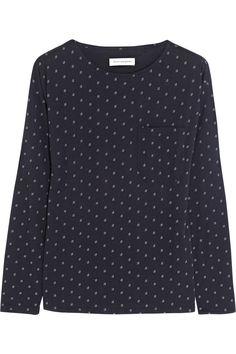 Star-print organic cotton top
