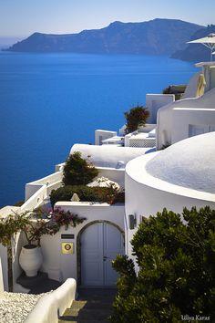 Oia in White - Santorini, Greece