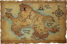 Neverland Map - maybe like this one on a cavas