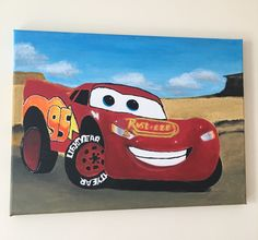 Lightning Mcqueen Acrylic Painting created by me