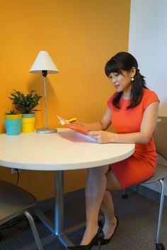 woman wearing dress for job interview