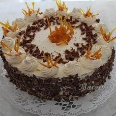 Hungarian Recipes, Hungarian Food, Fondant, Birthday Cake, Ethnic Recipes, Cakes, Oreos, Pastel, Cake