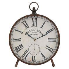 Rustic mantle clock