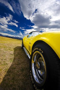 Featured on the cover the of National Corvette Mag Yellow Corvette, 1969 Corvette, Chevrolet Corvette Stingray, Yellow Car, Mellow Yellow, Corvette History, Rims And Tires, Best Muscle Cars, Old Classic Cars