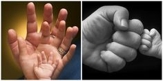 I love the delicacy of newborn hands. Their beautiful fingers, all the tiny creases and how they grasp on to anything! The fist bump is by far my favorite for any new Dad.  (Photo Credit: Renee Britt, Zdenko Boskovic)