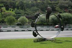 """*Shepherd* installed in """" Iran - Tehran - Modarres Highway """" 2013  height : 5 meter"""