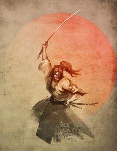 Cool Tattoos Anime Samurai X Ronin Samurai, Samurai Warrior, Japanese Art Samurai, Samourai Tattoo, Culture Art, Samurai Artwork, Bild Tattoos, Asian Tattoos, Amaterasu