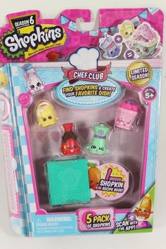 Season 6 Shopkins Chef Club Limited Editiopack RECIPE Surprise Pet NEW CUTE 4