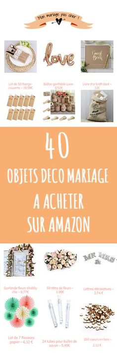 Discover 40 cool and affordable wedding decor items (the majority costs less than 10 €). Diy Wedding Decorations, Wedding Themes, Wedding Favors, Wedding Gifts, Perfect Wedding, Our Wedding, Chic Wedding, French Wedding, Gift Table