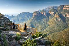 Three Rondavels View at Blyde River Canyon - South Africa