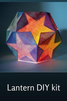Waldorf lantern DIY kit for Martinmas #lantern #martinmas #waldorf #star #stars #light #diy #diykit #ad #etsy #oybpinners