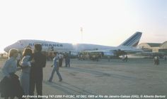 2 December 1985 - Air France Flight 091, a Boeing 747-228B (F-GCBC), veered off the runway on landing at the Rio de Janeiro-Galeão International Airport, crossed a ditch and collided with a concrete ramp. There were no fatalities or injuries among the 250 passengers and 23 crew. The aircraft was scrapped.