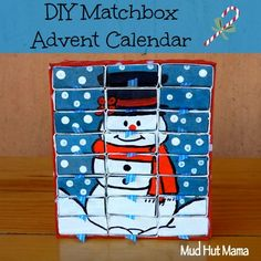 Home Made Advent Calendar out of Matchboxes - Mud Hut Mama