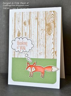 Stampin' Up ideas and supplies from Vicky at Crafting Clare's Paper Moments: Thinking about Life in the Forest