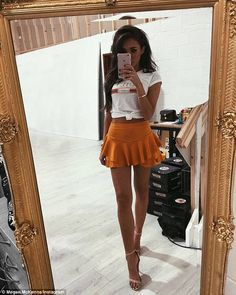 Boy drama: Barking-born starlet Megan, pictured in a social media snap, has been the centre of fan speculation since her nasty split from Pete Wicks amid rumours of infidelity