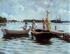 'Kesä-Elämää Saaristossa' (Summer in the Archipelago) by Albert Edelfelt 1880  oil  private collection