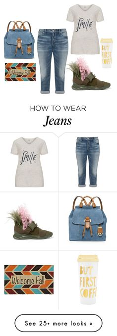 """Untitled #3198"" by doinacrazy on Polyvore featuring MICHAEL Michael Kors, Christopher Kane, Silver Jeans Co., Zizzi and ban.do"