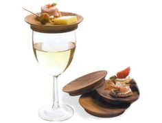 These are awesome!!! Keep your wine covered AND have a place for your bites while you're drinking! I know these would be perfect for an event where you have to stand, talk, hold your glass of wine, and eat appetizers all at the same time!