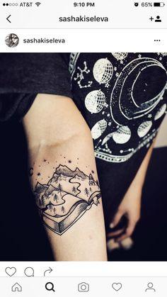 Book tattoo. Literary tattoo.